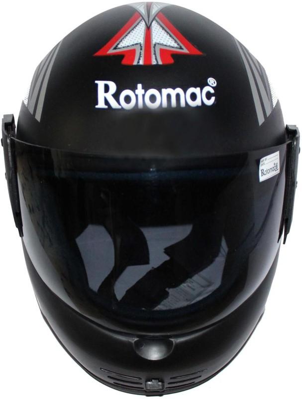 Rotomac Full Face Solid Plastic ISI Mark Motorbike Helmet(Black)