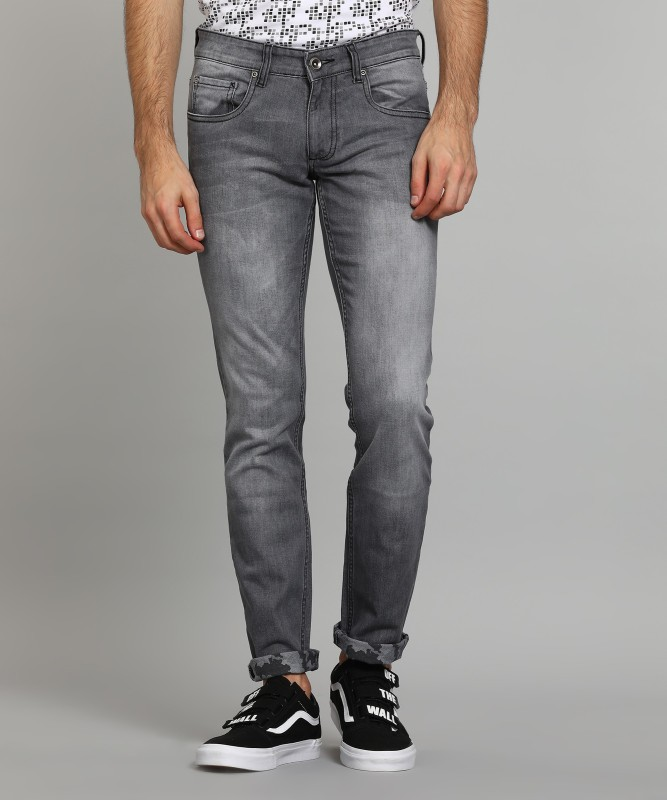 Park Avenue Slim Mens Grey Jeans