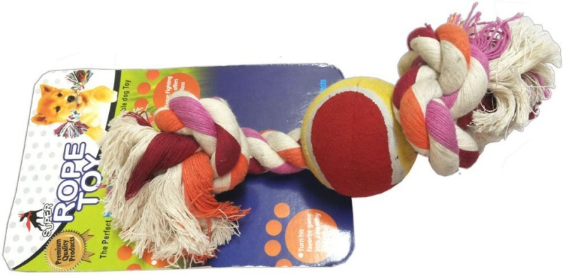 Super Dog Cotton, Rubber Tug Toy For Dog