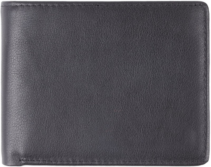 Styler King Men Black Genuine Leather Wallet(10 Card Slots)
