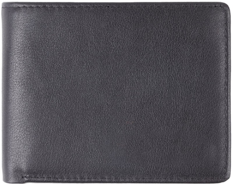 Styler King Men Black Genuine Leather Wallet(10 Card Slots)