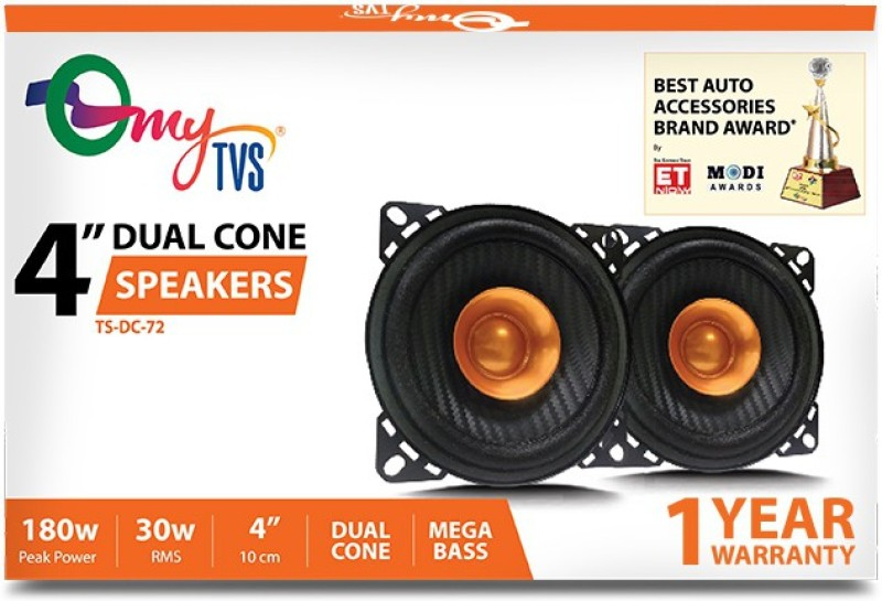 myTVS TS-DC-72 4 Inch Dual Cone 180W Coaxial Car Speaker(180 W)