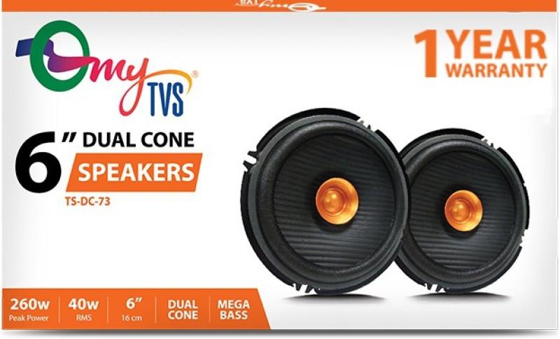 myTVS TS-DC-73 6 Inch Dual Cone 260W Coaxial Car Speaker(260 W)