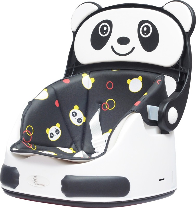 R for Rabbit Candy Crush Booster Seat - Super Cute Booster Chair for Babies (Black White)(White, Black)