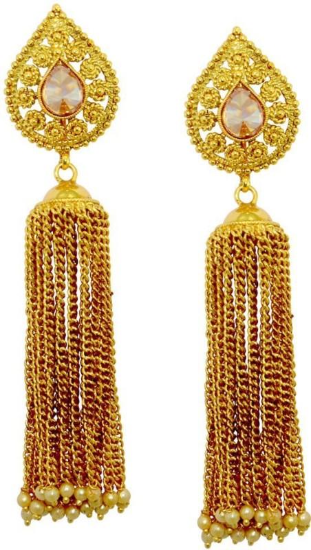 Shipgig Stunning Gold Plated Earring For Women & Girls Alloy Drops & Danglers