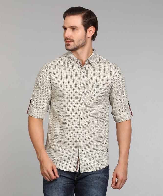 Spykar Mens Printed Casual Spread Shirt