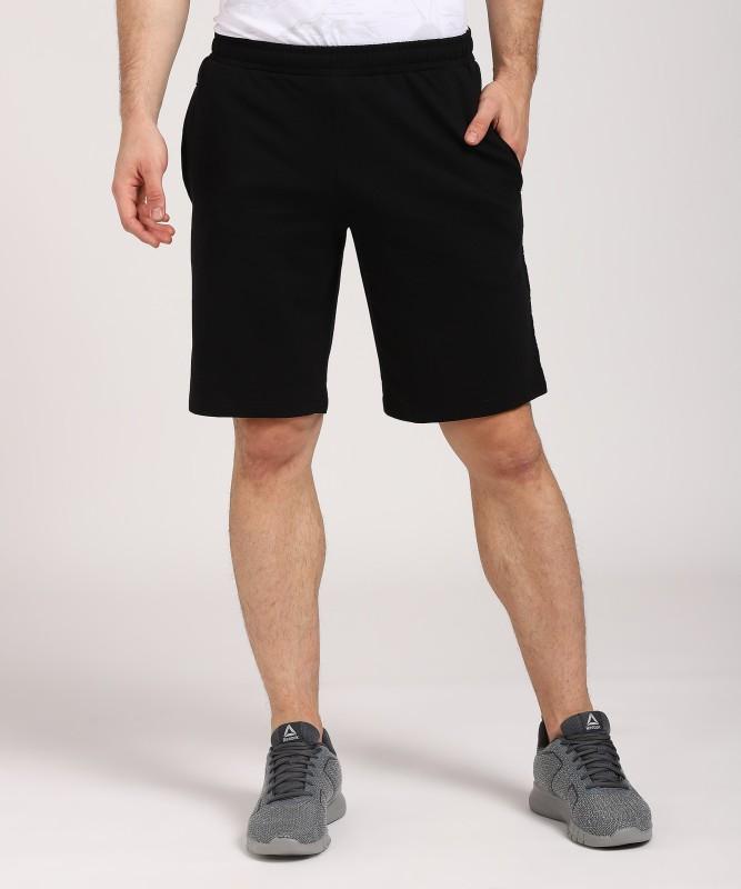 Fila Solid Mens Black Sports Shorts