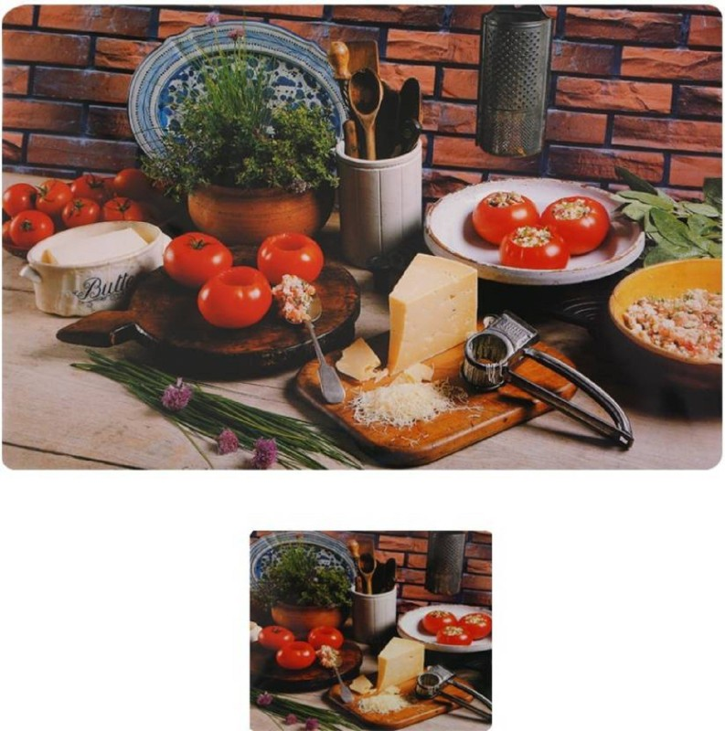 LooMantha Rectangular Pack of 6 Table Placemat(Multicolor, PVC (Polyvinyl Chloride))