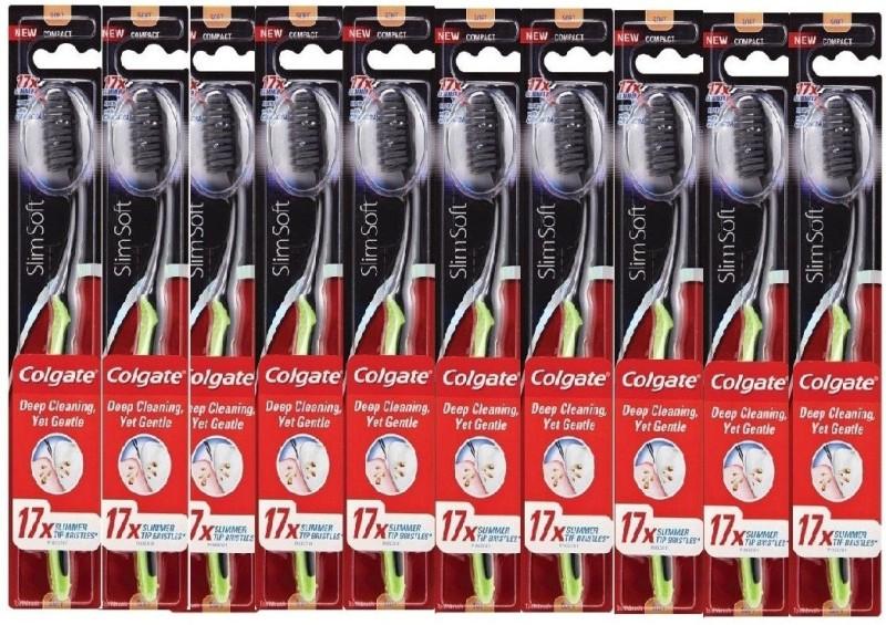 Colgate Slimsoft Ultra Soft Toothbrush(Pack of 10)