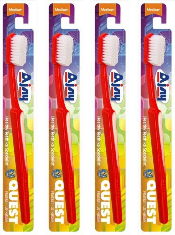Ajay Medium Medium Toothbrush(Pack of 10)