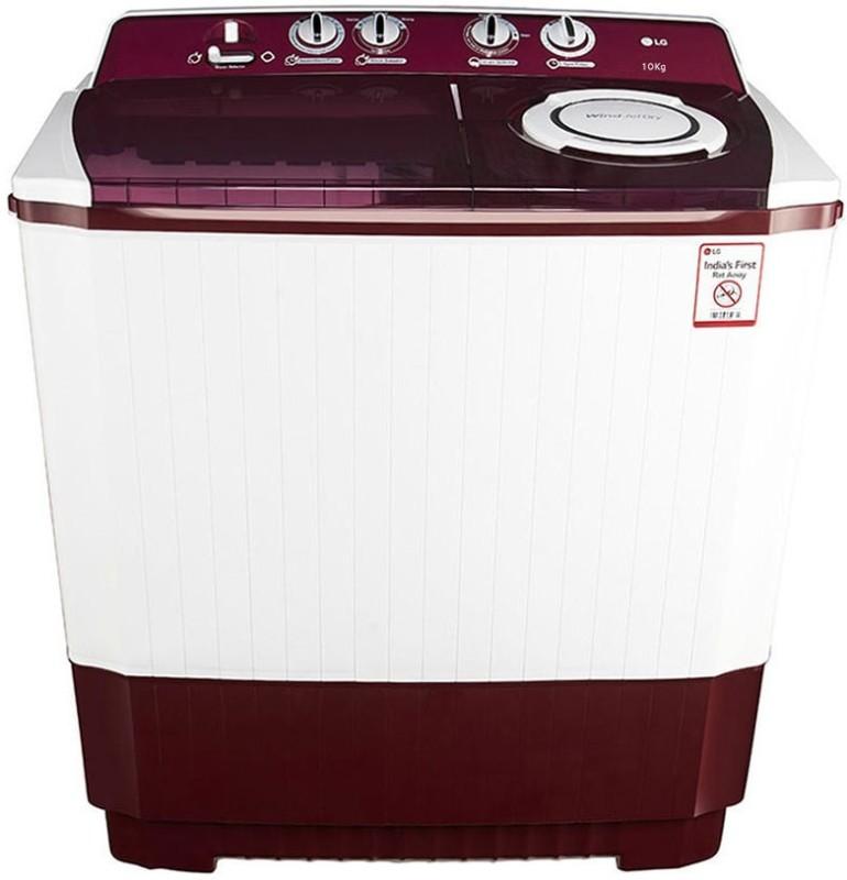LG 10 kg Semi Automatic Top Load Washing Machine White, Maroon(P2065R3SA)