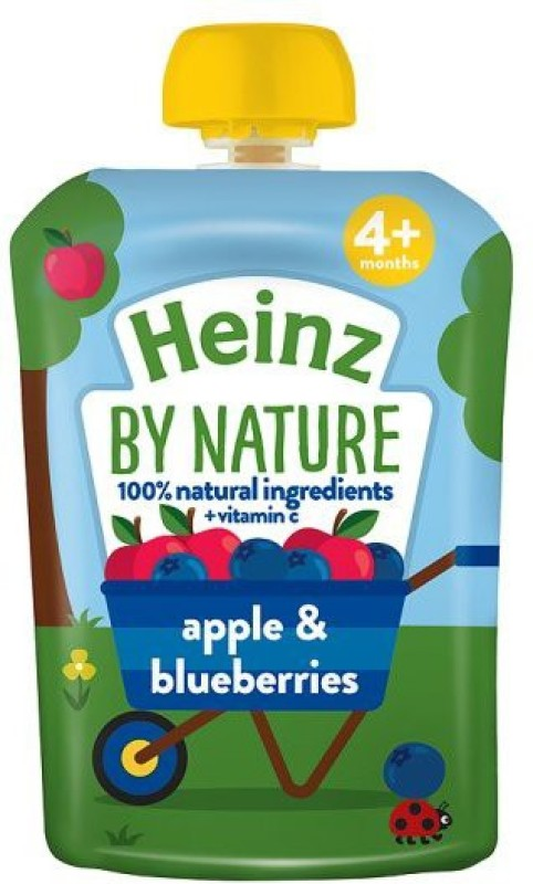 Heinz Apple And Blueberries Puree 100g Cereal(100 g, 4+ Months)