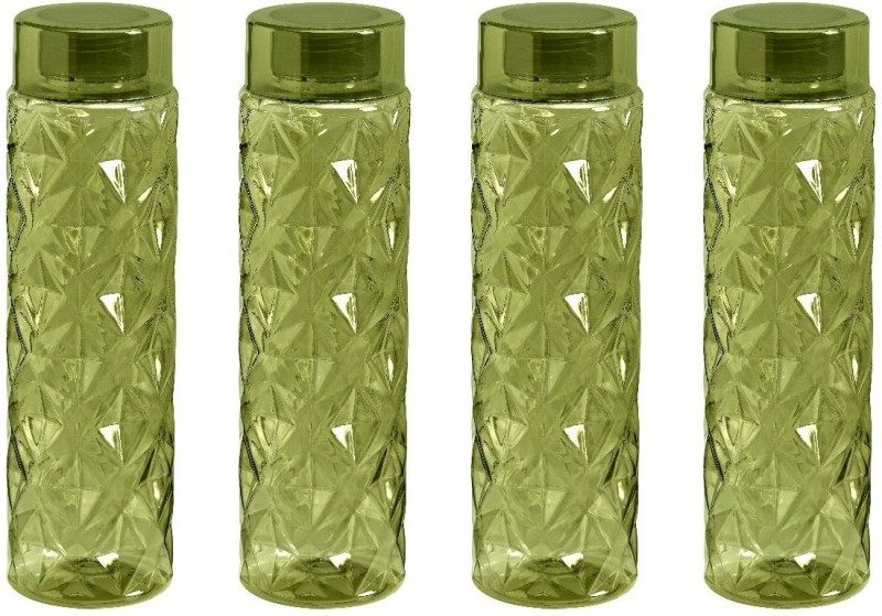 Steelo Sancia Water Bottle, 1000ml, Set of 4, Olive Green 1000 ml Bottle(Pack of 4, Green)