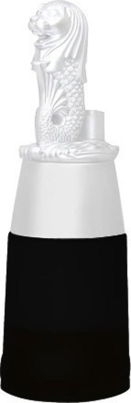 Barraid Singapore Lion White Round Shape with Black Jar Liquor Dispenser 500 ML Capacity Unisex Decanter(Plastic, Glass, 16 oz)