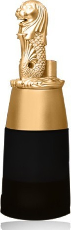 Barraid Singapore Lion Golden Round Shape with Black Jar Liquor Dispenser 500 ML Capacity Decanter(Glass, Plastic, 16 oz)