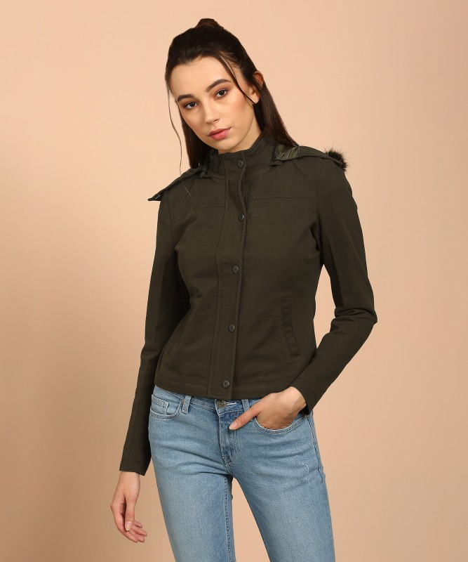 Flying Machine Full Sleeve Solid Women's Jacket