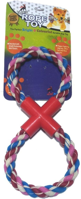 Super Dog Pull Rope Toy Small Double Ring Cotton, Plastic Tug Toy For Dog