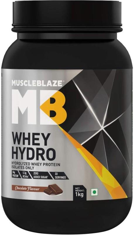 MuscleBlaze Whey Hydro Whey Protein(1 kg, Chocolate)