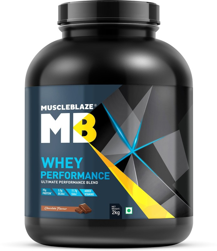 MuscleBlaze Whey Performance Whey Protein(2 kg, Chocolate)