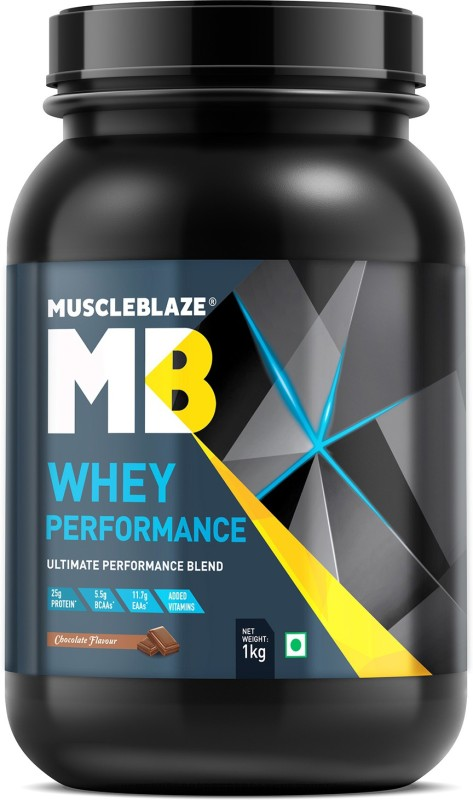 MuscleBlaze Whey Performance Whey Protein(1 kg, Chocolate)
