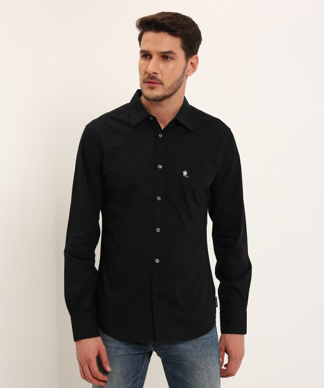 French Connection Mens Solid Casual Black Shirt