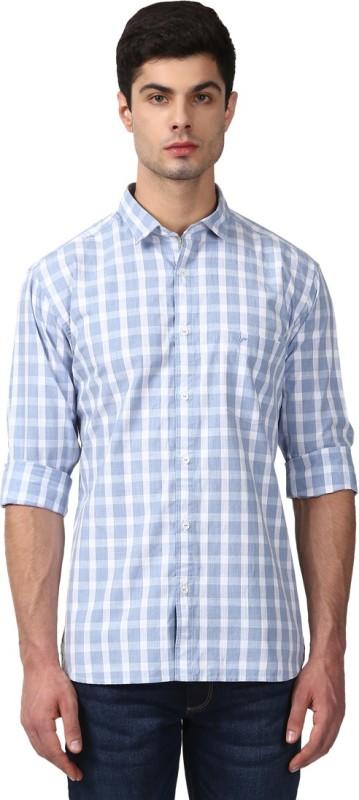 Park Avenue Men Checkered Casual Cut Away Shirt