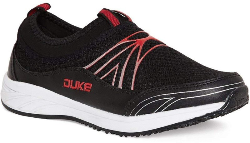 Duke Walking Shoes For Men(Black, Red)