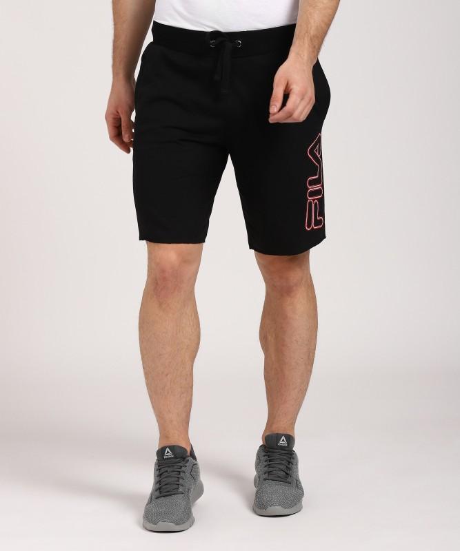 Fila Solid Mens Black Basic Shorts