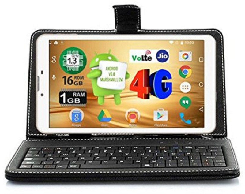 I Kall N4 with Keyboard 16 GB 7 inch with Wi-Fi+4G Tablet (White)