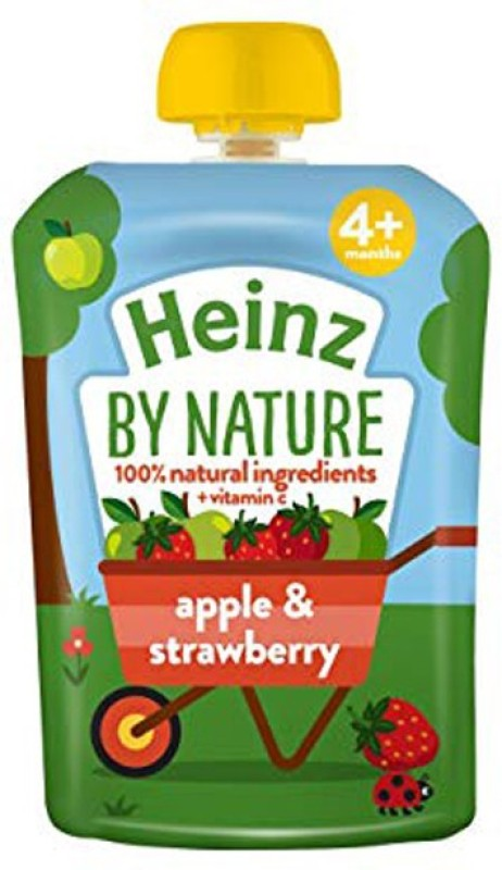 heinz Apple & Strawberry Puree 100g Cereal(100 g, 4+ Months)