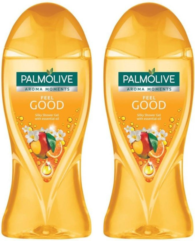 Palmolive Feel Good Essential Oil Silky Bodywash, (2 X 250 ml)(500 ml, Pack of 2)