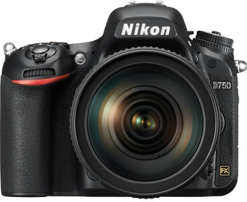 Nikon D750 DSLR Camera Body with Single Lens: 24-120mm VR Lens (16 GB SD Card + LowePro Camera Bag)(Black)