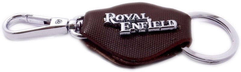 ADITYA TRADERS Classy Royal Enfield Original Leather Designer Locking Carabiner(Brown, Black)