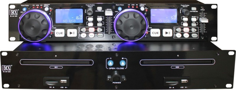 MX Professional Dual Media Player with playback from multiple sources like Audio CDs / MP3s and two USB ports CDP-5000 Wired DJ Controller
