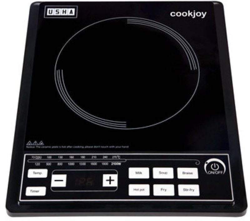Usha IC 2102P Induction Cooktop(Black, Push Button)