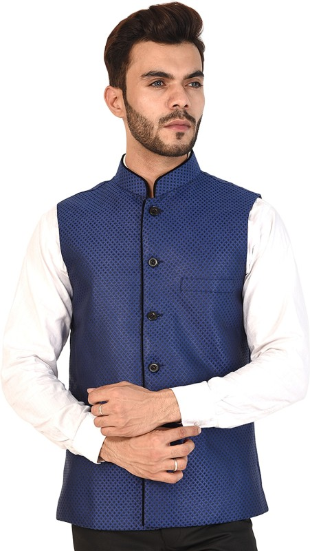 Vastraa Fusion Sleeveless Printed Men Jacket