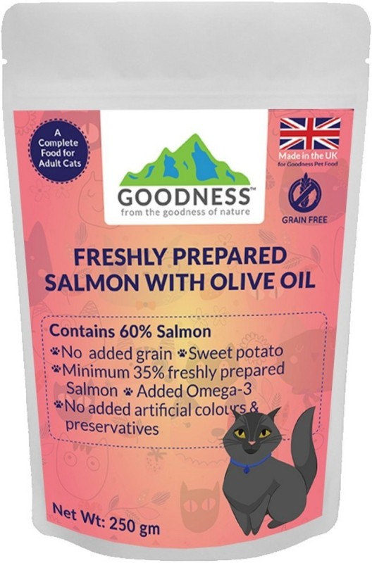 GOODNESS Grain free Salmon, Sweet Potato 250 g Dry Cat Food