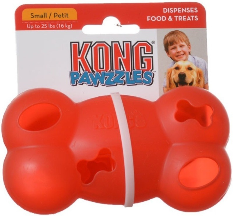 Goofy Tails Pawzzles Kong Bone Small Nylon Treat Dispensing Toy For Dog