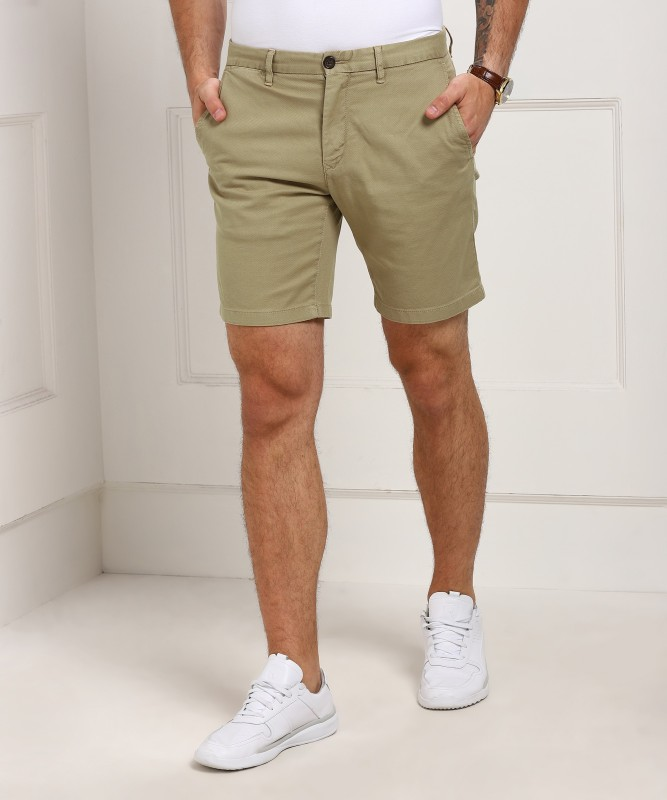 Tommy Hilfiger Printed Mens Brown Basic Shorts, Regular Shorts