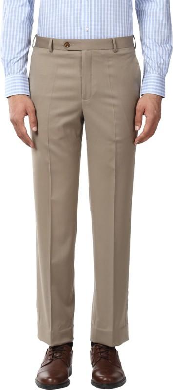 Park Avenue Regular Fit Men Beige Trousers