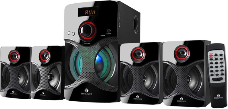 Zebronics BT4440 RUCF Bluetooth Home Audio Speaker(Black, 4.1 Channel)
