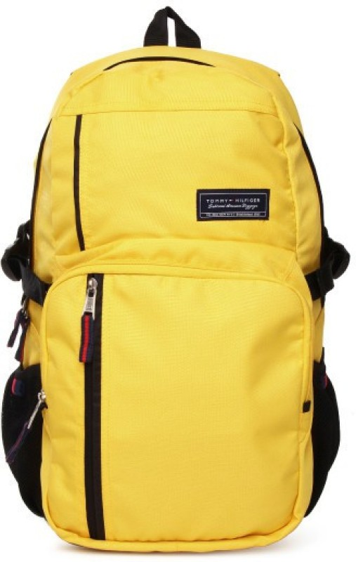 Tommy Hilfiger Core 19.53 L Backpack(Black, Yellow)