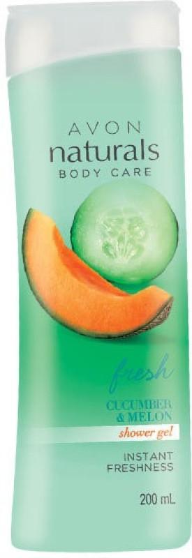 Avon Naturals Body Care Fresh Cucumber & Melon Shower Gel(200 ml)