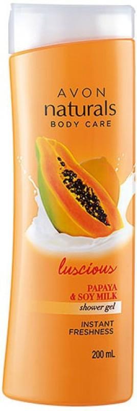 Avon Anew Naturals Shower Gel - Papaya 200 ml(200 ml)