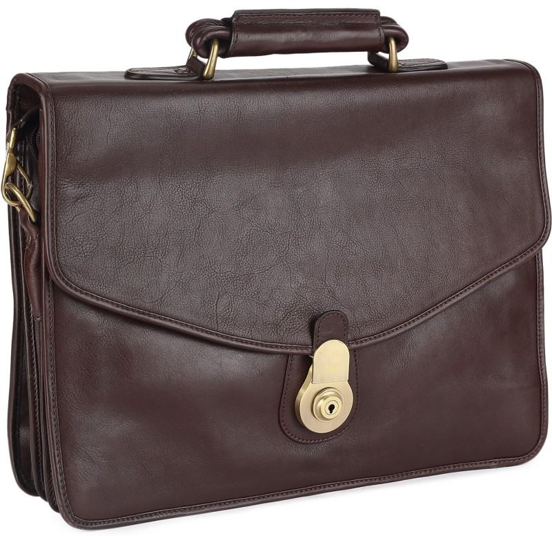 Hidesign GI FIRST [N]-RANCHERO MAORI-BROWN Medium Briefcase - For Men(Brown)