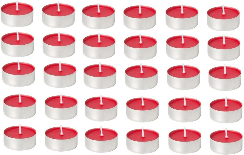 Kala Decorators 30 Pcs Red Strawberry Smokeless Color Tea Light Candle for Party,Home Candle(Red, Pack of 30)