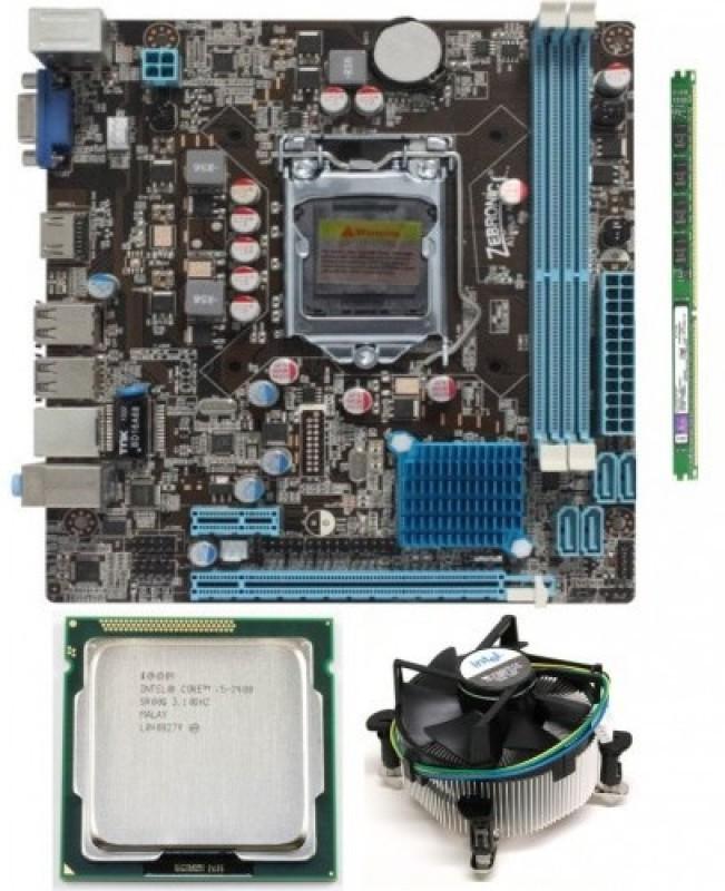 Zebronics H61 + i5 Second Gen + 4GB + Fan Combo Motherboard(Dark)
