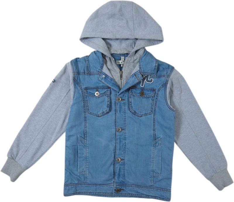 Gini & Jony Full Sleeve Printed Boys Denim Jacket
