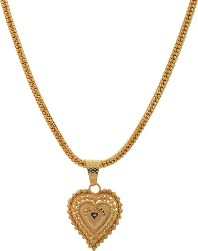 Weldecor Gold Plated Pendant for Women (Golden) (hk-apg-804) Gold-plated Plated Alloy Chain