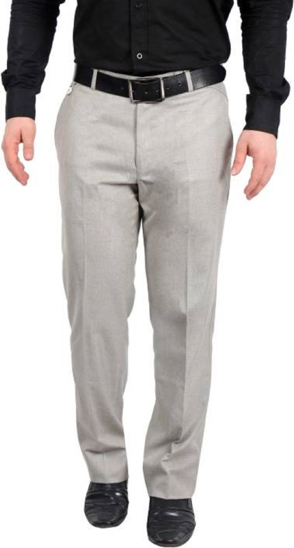 22B Slim Fit Mens Grey Trousers